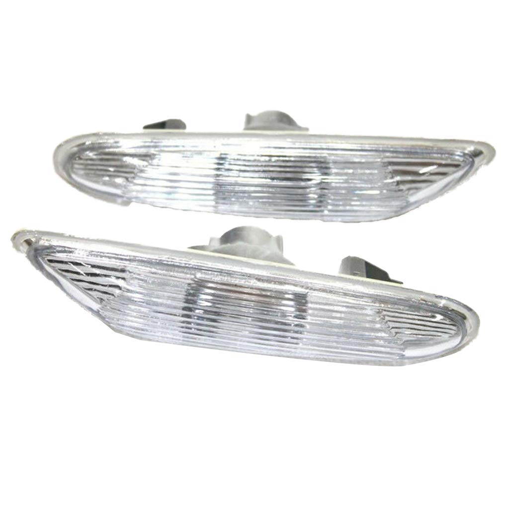 OmkuwlQ 1 Pair Replacement for BMW E90 E91 E92 E93 2006-2011 Left and Right Side Marker Turn Indicator White Lens by OmkuwlQ