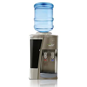 NutriChef (PKTWC15SL) Countertop Compressor Cooler Dispenser-Hot & Cold Water, with Child Safety Lock, One Size Silver