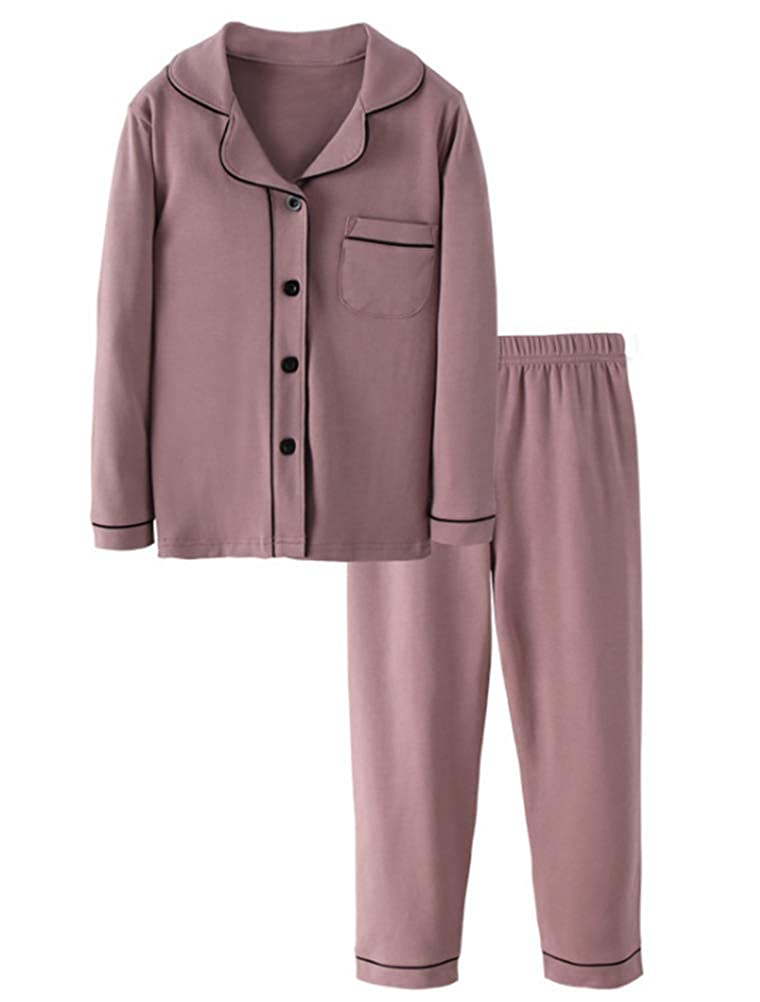 Mallimoda Girls Boys Cotton Pajamas Set 2 Piece PJS Long Sleeve Sleepwear