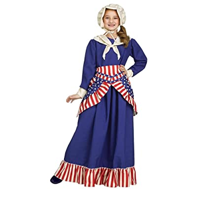 Girls Betsy Ross Historical American Costume: Toys & Games
