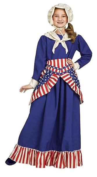 Amazon.com: Niñas Betsy Ross histórico americano disfraz ...