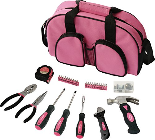 Apollo Precision Tools DT0423P 69-Piece Household Tool Kit, Pink, Donation Made to Breast Cancer Research (Breast Tool Cancer Set)