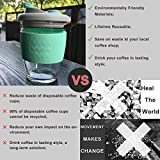 12OZ Reusable Coffee Cup with Leak Proof Lid and