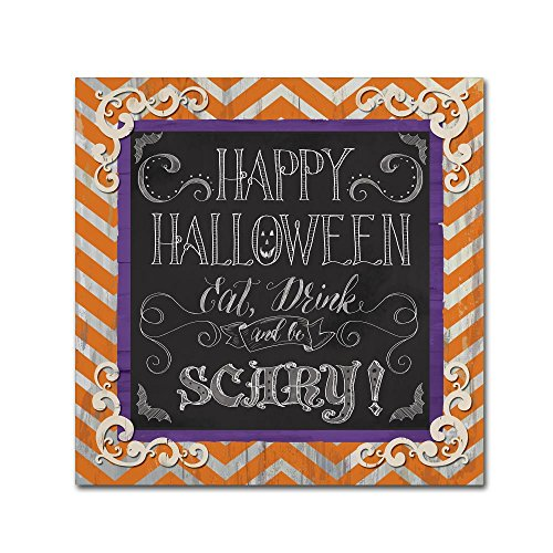 Happy Halloween by Fiona Stokes-Gilbert, 24x24-Inch Canvas Wall Art -