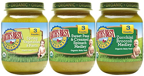 Earth's Best Organic Stage 3 Favorite Sides Baby Food Variety Pack, 6 oz Each, 12 Count (Medley Vegetable)