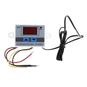 Controlador Digital de Temperatura con Sensor Impermeable Pre-cableado Termostato de Salida Digital, 2