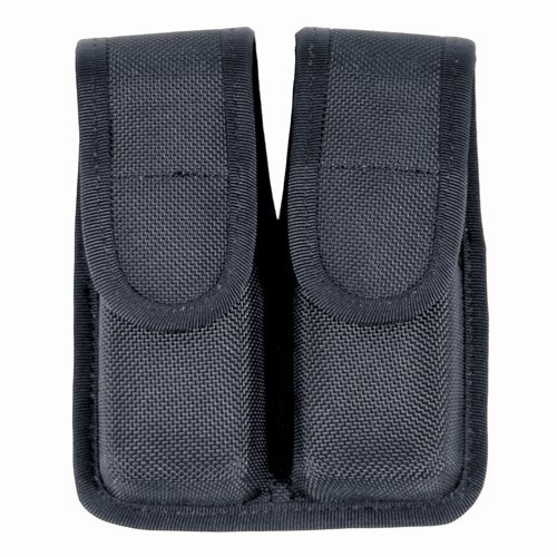BLACKHAWK! Molded Black Cordura Double Mag Pouch - Single Row