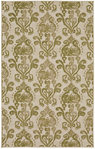 - Mohawk Woodbridge Bali Light Green Ikat Printed Area Rug, 7'6x10', Green