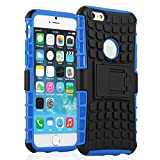 iPhone 6 Case - KAYSCASE ArmorBox Heavy Duty Cover Case for Apple iPhone 6 4.7 inch 2014 Version (Lifetime Warranty) (Blue)
