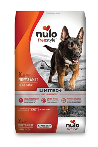 Nulo Puppy & Adult Freestyle Limited Plus Grain Free Dry Dog Food: All Natural Limited Ingredient Diet For Digestive & Immune Health - Allergy Sensitive Non Gmo (Turkey Recipe - 10 Lb Bag)