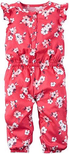 Carters Girls Floral Print Romper