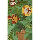 Cheap Kids 5′ x 7′ Green Hand Tufted Area Rug