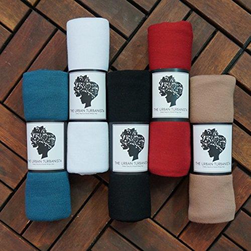 The Urban Turbanista Stretch Jersey Knit Head Wrap - Long Headwrap Scarf Tie by (70'' x 32'', Coral Pink) by The Urban Turbanista (Image #5)
