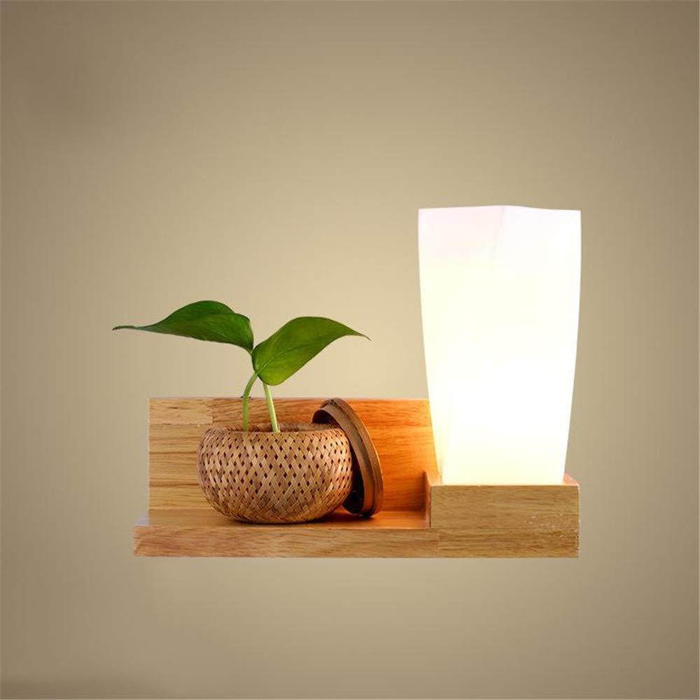 HRCxue Wandleuchten Massivholz LED Wand Lampe Wohnzimmer warme Schlafzimmer Nachttischlampe Konservierungsmittel