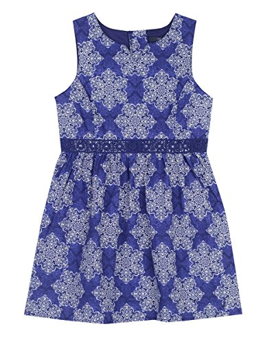 Nautica Girls' Toddler Special Occasion Fashion Dress, Medium Navy Bandana 4T