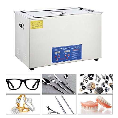 CO-Z 30L Digital Professional Large Ultrasonic Jewelry Cleaning Machine Cleaner with Heater, Timer (1400 W, 10x60 W Transducers) by CO-Z