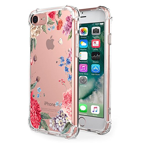 Price comparison product image Apple 7 Plus Soft TPU Transparent Air Cushion Technology Protector Clear Case for iPhone 8 Plus [Anti Slip][Scratch Resistant] (7, iPhone 7 Plus)
