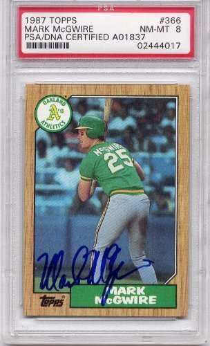 Mark McGwire Oakland Athletics PSA/DNA Certified Authentic Autograph - 1987 Topps (Autographed Baseball Cards)