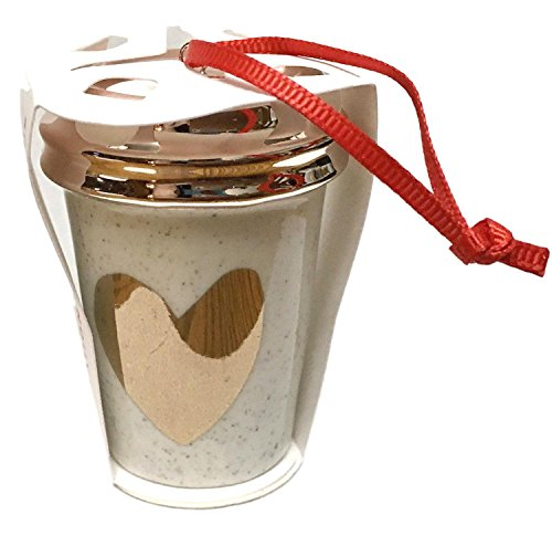 Starbucks 2017 Holiday Cup Ornament Rose Gold Heart