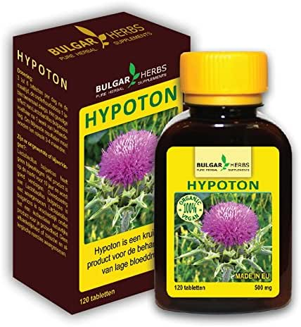 Hypoton - For Treatment of Low Blood Pressure (Organic Product) 120 Tablets, 500 Mg.