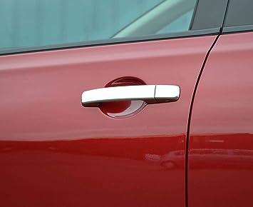 Tapas cromadas para manija de puerta con entrada sin llave para Qashqai 06 - 14: Amazon.es: Coche y moto