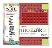 WAFF Mozaika Notebook, Medium, Red
