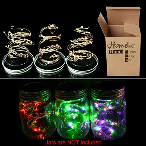 [ALL-IN-ONE]Battery Operated Mason Jar LED String Lights,...