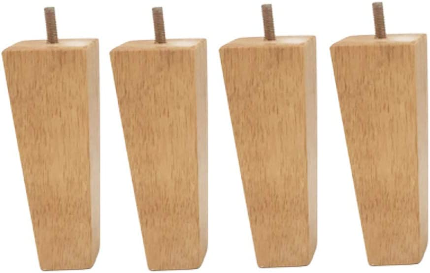 Wooden Legs Solid Wood Sofa Legs M8 Furniture Legs Table Legs for Cabinet Couch Chair Dresser Furniture feet 4 Pack,2zoll//5cm