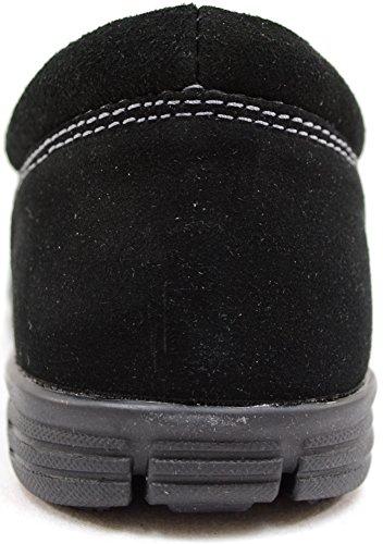 Dames / Dames Echt Leer Suède Lichtgewicht Slip Op Looppompen / Schoenen / Sneakers Zwart