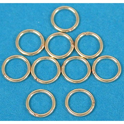 - 10 14K 14/20 Gold-Filled Jump Rings Closed 24 Gauge 5mm