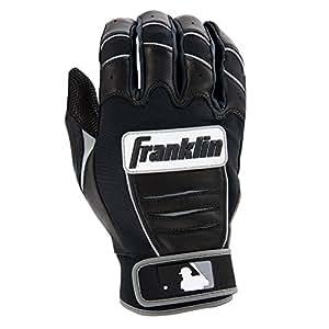Franklin Sports MLB CFX Pro Batting Gloves, Black/Black (2015)