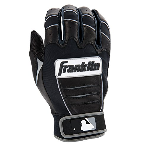 Franklin Sports MLB CFX Bro Batting Gloves, Black/Black (2015), Youth Large