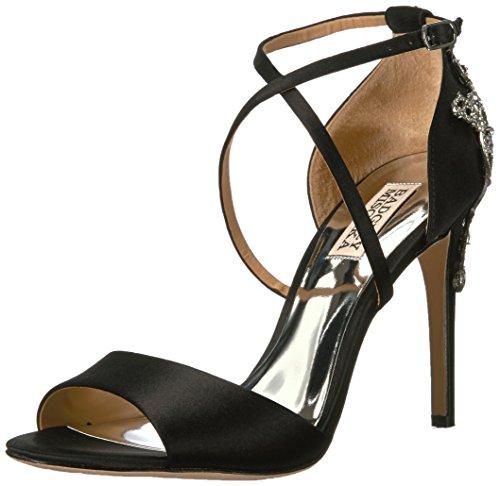 Badgley Mischka Women's Karmen Heeled Sandal, Black, 8.5 Medium US by Badgley Mischka