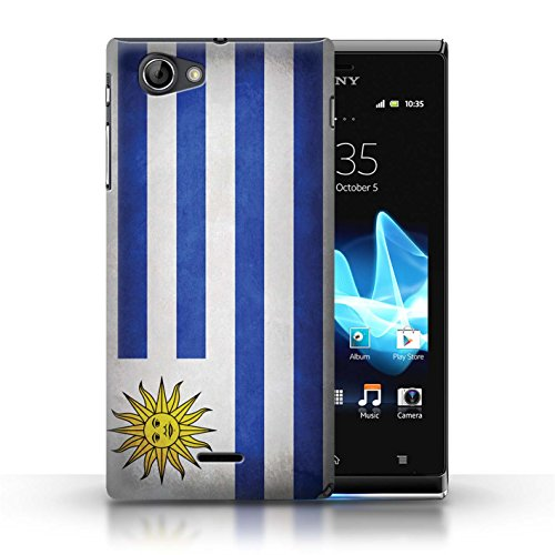 Etui / Coque pour Sony Xperia J (ST26i) / Uruguay/Uruguayen conception / Collection de Drapeau