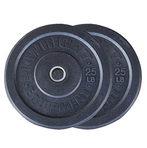 25lb Wright USA Crumb Bumper Plates Pair - Free Shipping by Wright Equipment
