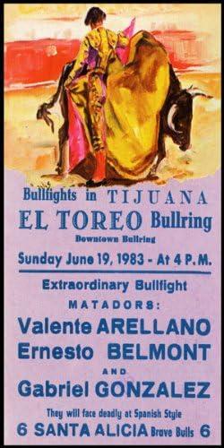 "Plaza De Toros De Ciudad Juarez #4 Canvas Art Poster 12/""x 24/"" Bullfighting"
