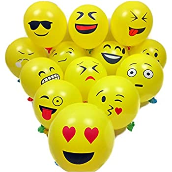 amazon com emoji universe jumbo foil emoji helium balloons 12