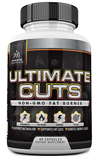 Athletic-Mechanics-Ultimate-Cuts-Powerful-Non-GMO-Fat-Burner-for-Fat-LossWeight-Loss-Endurance-Focus-Concentration-Enhances-Metabolism-Boosts-Energy-Levels-796mg-60-Capsules