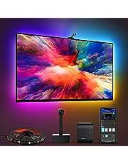Govee Immersion WiFi LED TV achtergrondverlichting met camera, RGBIC LED-strip, voor 55-65 inch tv en pc, app-bediening, compatibel met Alexa en Google Assistant, voor tv en pc