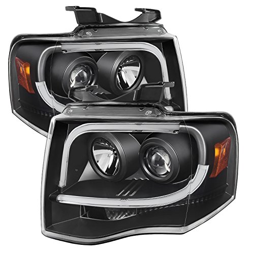 Spyder Auto PRO-YD-FE07-LTDRL-BK Ford Expedition Projector Headlight