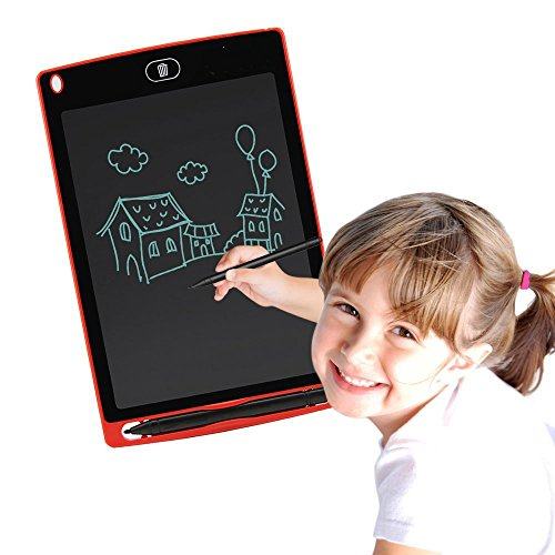 Corelink LCD Writing Tablet 8.5-inch Digital Drawing Pad Paperless Note Board Portable Durable Doodle Whiteboard for Kids and Adult (Red) by Corelink