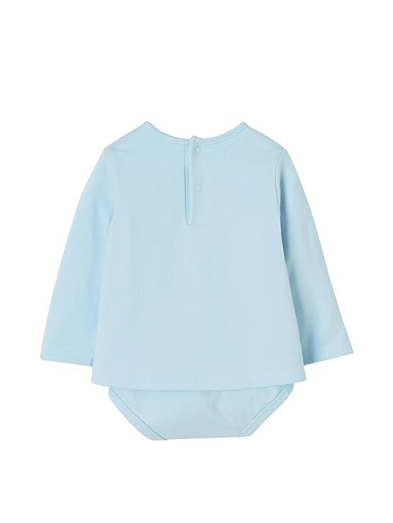 68af92df9 VERTBAUDET Camiseta body bebé recién nacido con motivo de animales Azul  claro liso con motivos 1M-54CM  Amazon.es  Bebé
