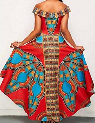 Coolred-femmes Imprimé Floral Coupé La Ligne D'ourlet Mouchoir Épaule Robes Robes De Style Ethnique Image