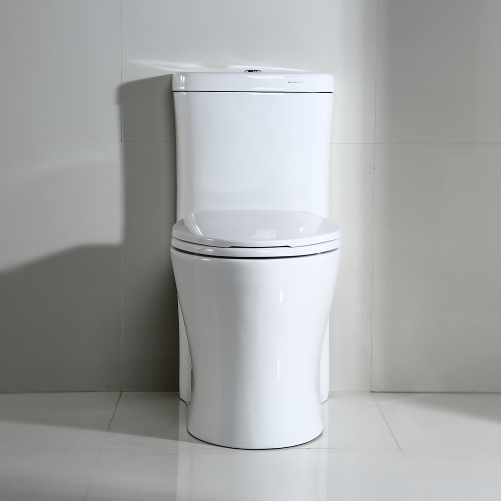 WOODBRIDGE Deluxe Dual Flush Elongated One Piece Toilet with Soft Closing Seat, B-0933/ T-0033 by Woodbridge