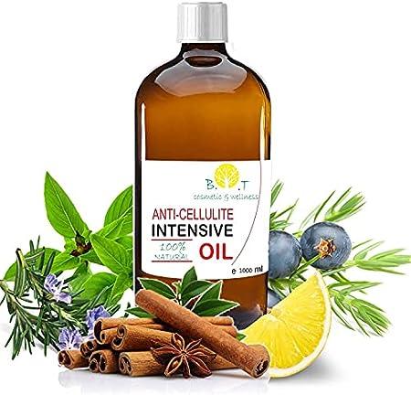 Aceite anticelulítico (1000 ml) Triple acción: drenante, quemagrasas y reafirmante. Maderoterapia Con aceites esenciales. Penetra 6 veces mejor que una crema anti celulitis