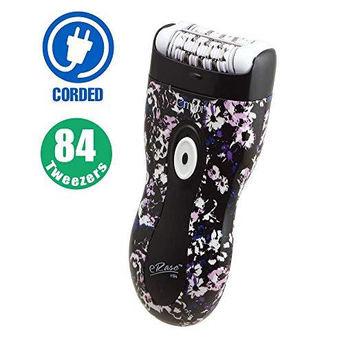 Emjoi eRase Dual Opposed 84 Tweezer Head Epilator - 84 Disc Precision Hair Removal Epilator - e84