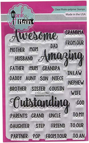Family Stamps (Pink & Main PM0220 Clear Stamps 4