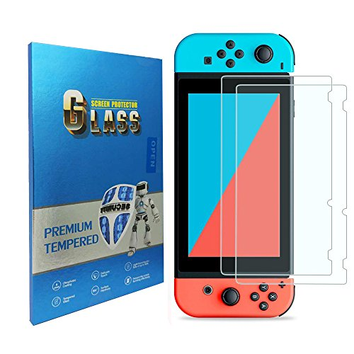 Tempered Glass Screen Protector Compatible Nintendo Switch 2017 (2-Pack)