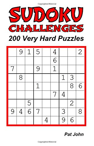 Download Sudoku Challenges: 200 Very Hard Puzzles (Sudoku Very Hard Challenges) (Volume 1) pdf