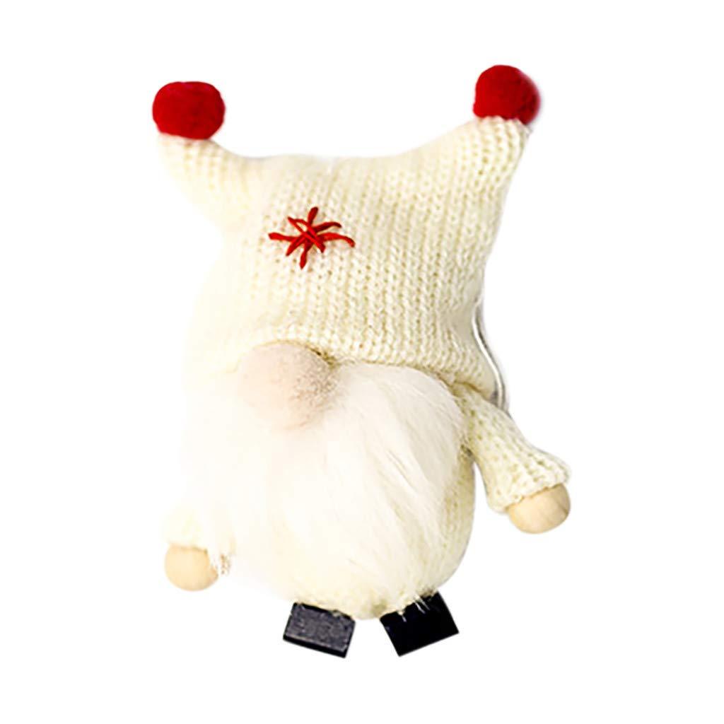 Decorazione Creativa per Albero di Natale Rosa Simpatico Gnomo in Lana con Ciondolo a Forma di Bambola di Natale Viahwyt